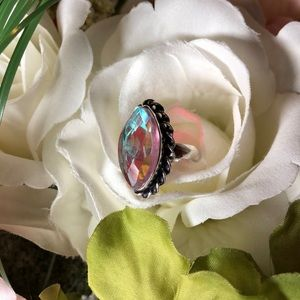 New! 925 stamped sterling topaz ring/jewelry